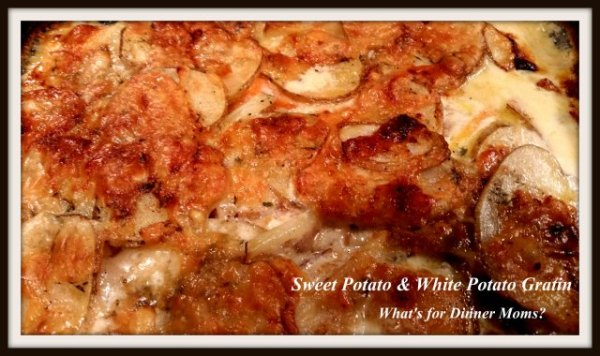 Sweet Potato & White Potato Gratin